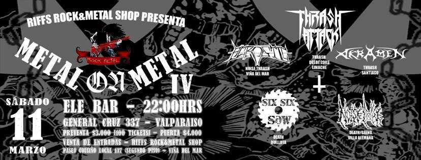 11 de Marzo: Metal On Metal IV en Valparaíso