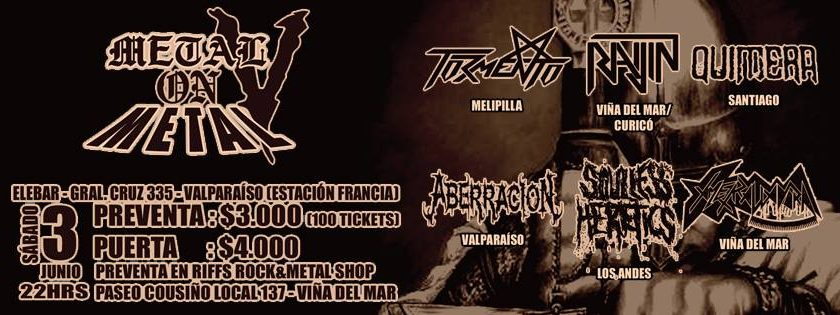 3 de Junio: Metal on Metal V en Valparaíso